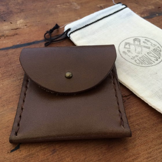 Image of Leather coin pouch