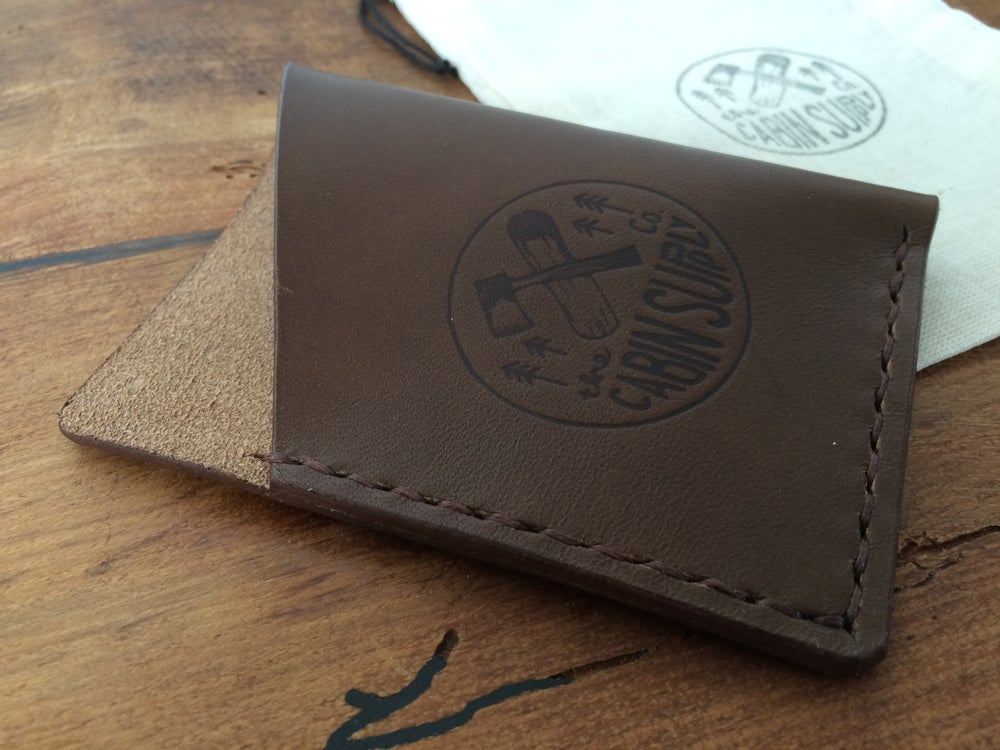 Image of Leather card wallet - vertical