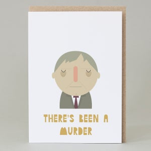 Image of 'There's Been a Murder' Card