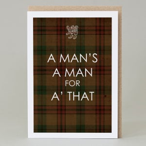 Image of A man's a man (card)