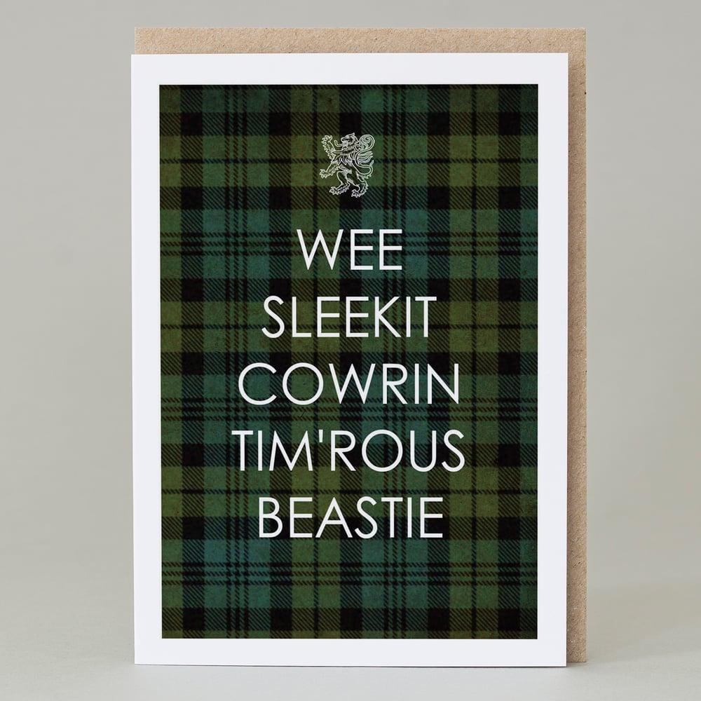 Image of Wee Sleekit Cowrin Tim'rous Beastie (Card)