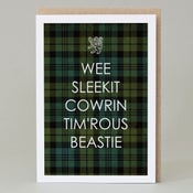 Image of Wee Sleekit Cowrin Tim'rous Beastie (card)