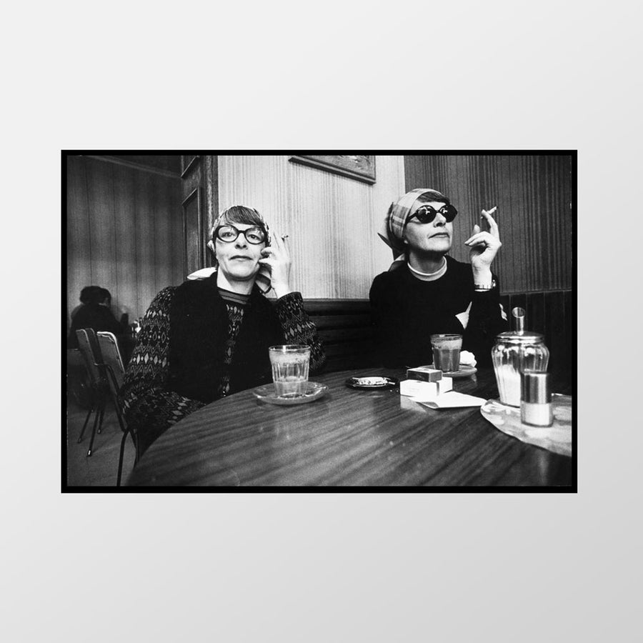 Image of Identical twins in cafe, Acland St, St Kilda, 1973 – Limited edition of 100