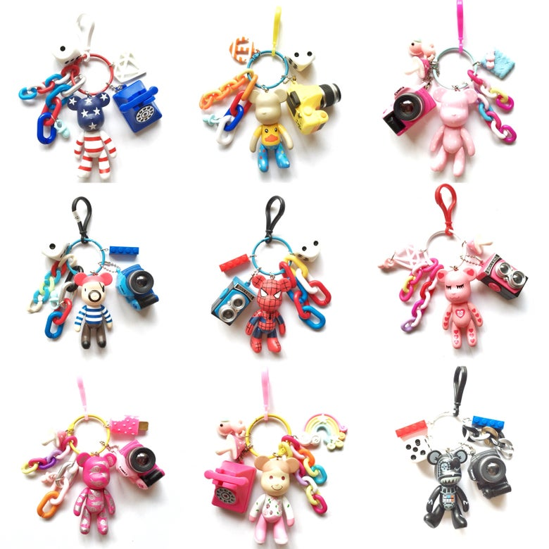 Image of Popobe Bear Keychains with interactive camera
