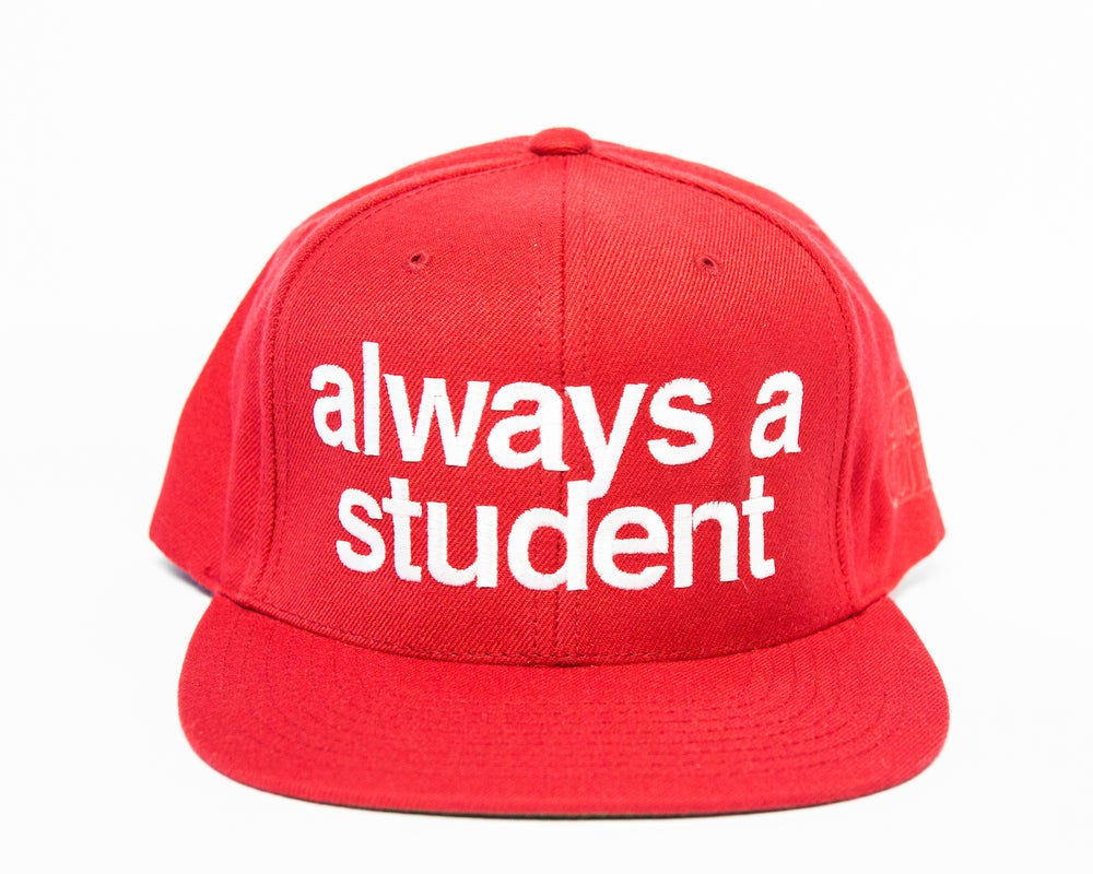 Image of Always A Student Snapback Hat - Red