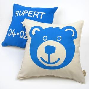 Image of Personalised Teddy Bear Cushion