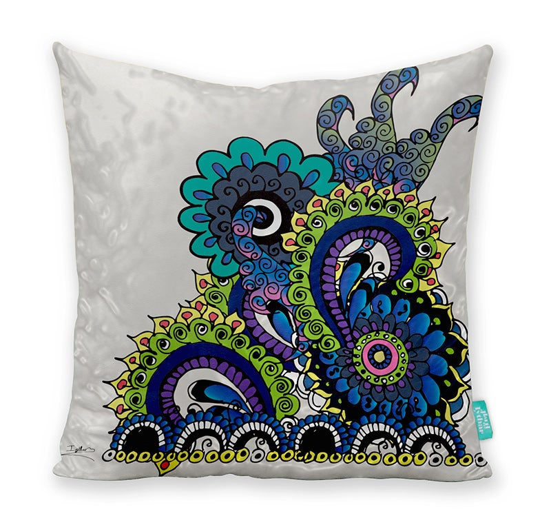 Image of Hello 70s! Oyster Sea Coral Cushion Cover