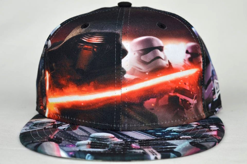Image of STAR WARS THE FORCE AWAKENS 'ALL-OVER BATTLE' NEW ERA FITTED HAT