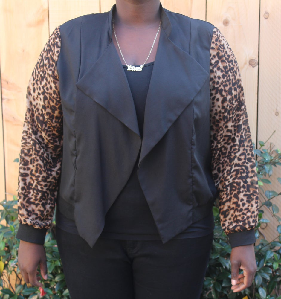 Image of Leopard Arm Blazer