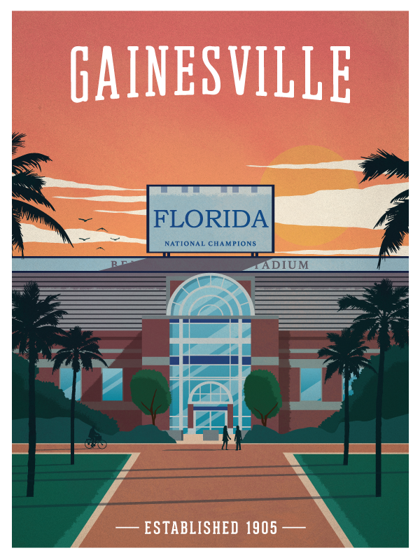 Image of Vintage Gainesville Poster