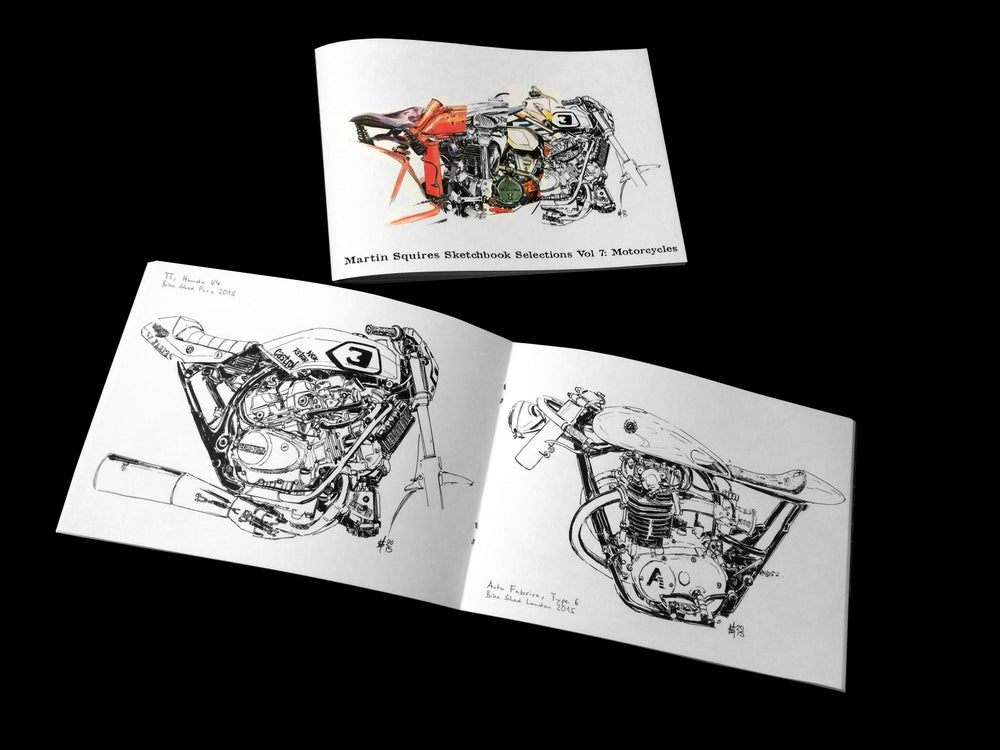 Image of Sketchbook Selections Vol 7: Motorcycles