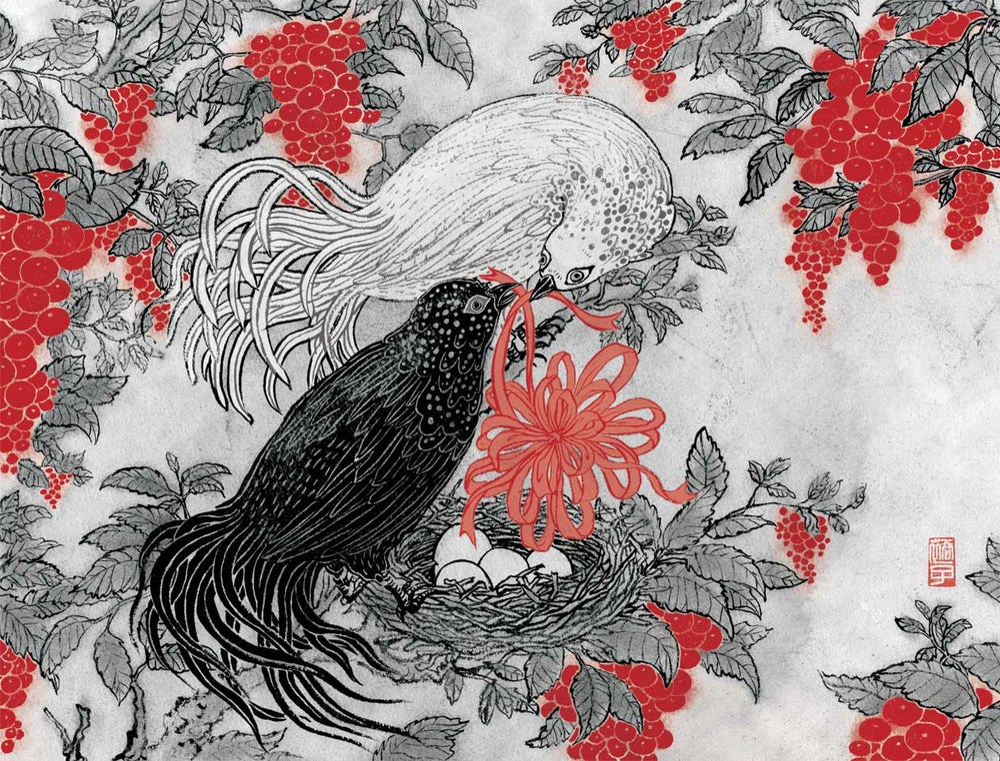 popular print 5: Love Birds