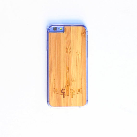 Image of TIMBER Wood Skin Case (iPhone, Samsung Galaxy) : X-Wing Edition