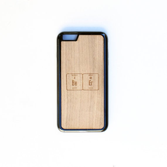 Image of TIMBER Wood Skin Case (iPhone, Samsung Galaxy) : BeEr Periodic Table Edition