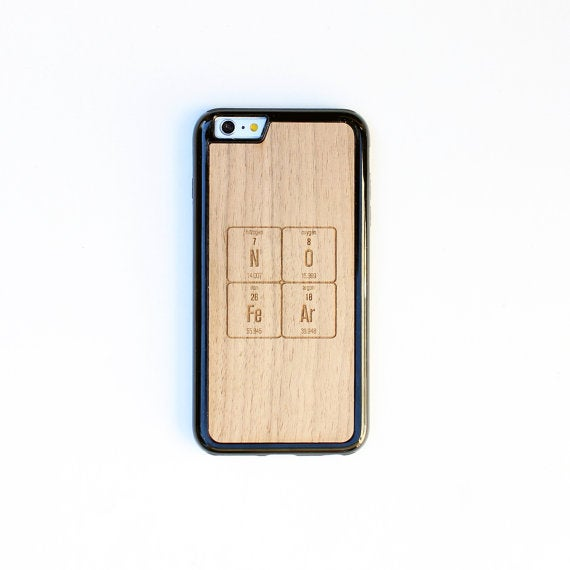 Image of TIMBER Wood Skin Case (iPhone, Samsung Galaxy) : NO FeAr Periodic Table Edition