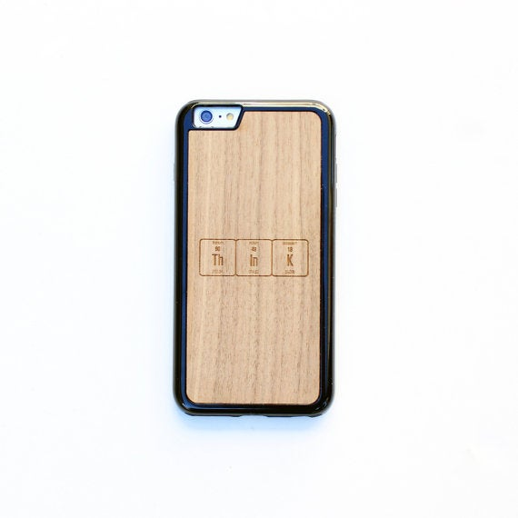 Image of TIMBER Wood Skin Case (iPhone, Samsung Galaxy) : ThInk Periodic Table Edition