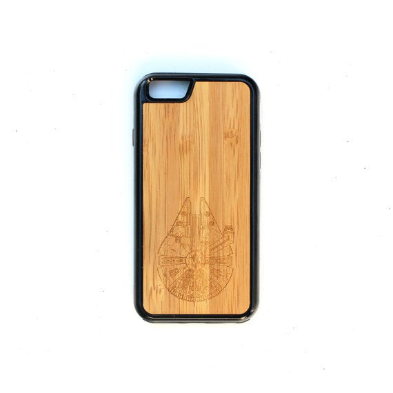 Image of TIMBER Wood Skin Case (iPhone, Samsung Galaxy) : Millennium Falcon Edition