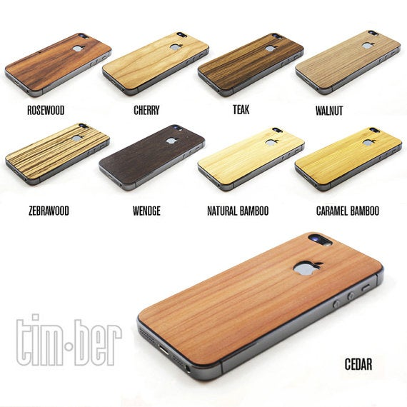 Image of TIMBER iPhone 5s Natural Wood Skin Back - Free Shipping USA