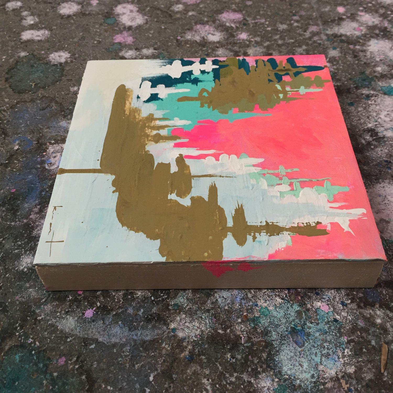 Image of tiny painting no. 31 (sky, opera, ochre)