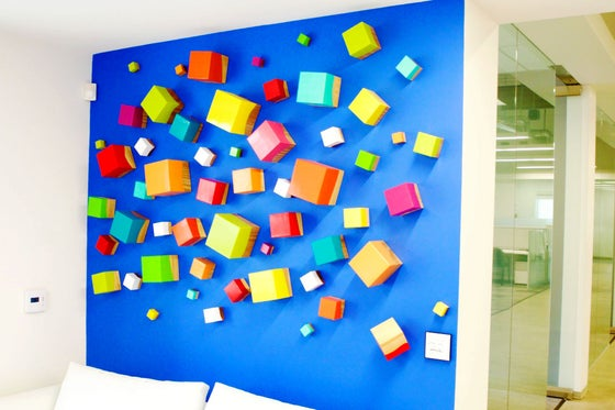 Image of 'THINKING OUT OF THE CUBE'   3D Wall Art   Wood wall Sculpture   Custom Original Art Installation