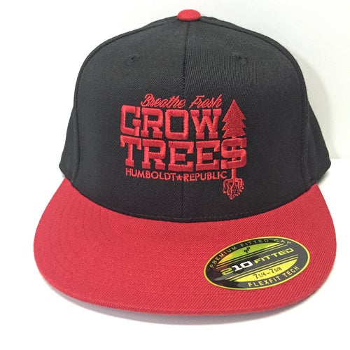 "Image of ""Grow Trees"" Fitted Snapback Hat - 2 Styles"
