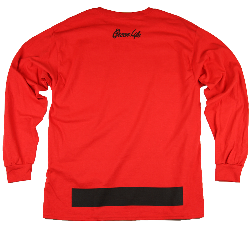 Image of The G Leaf Long Sleeve Tee in Red