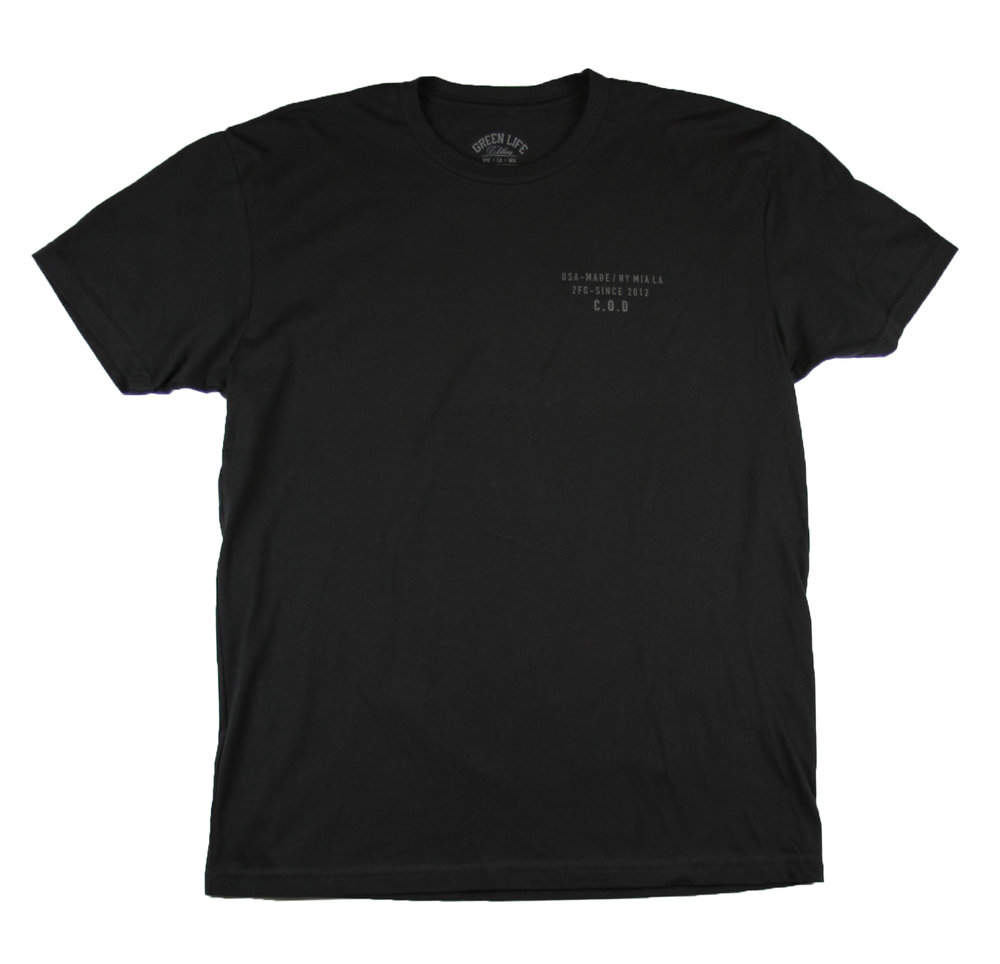 Image of The COD Tee in Black (3M Reflective ink)