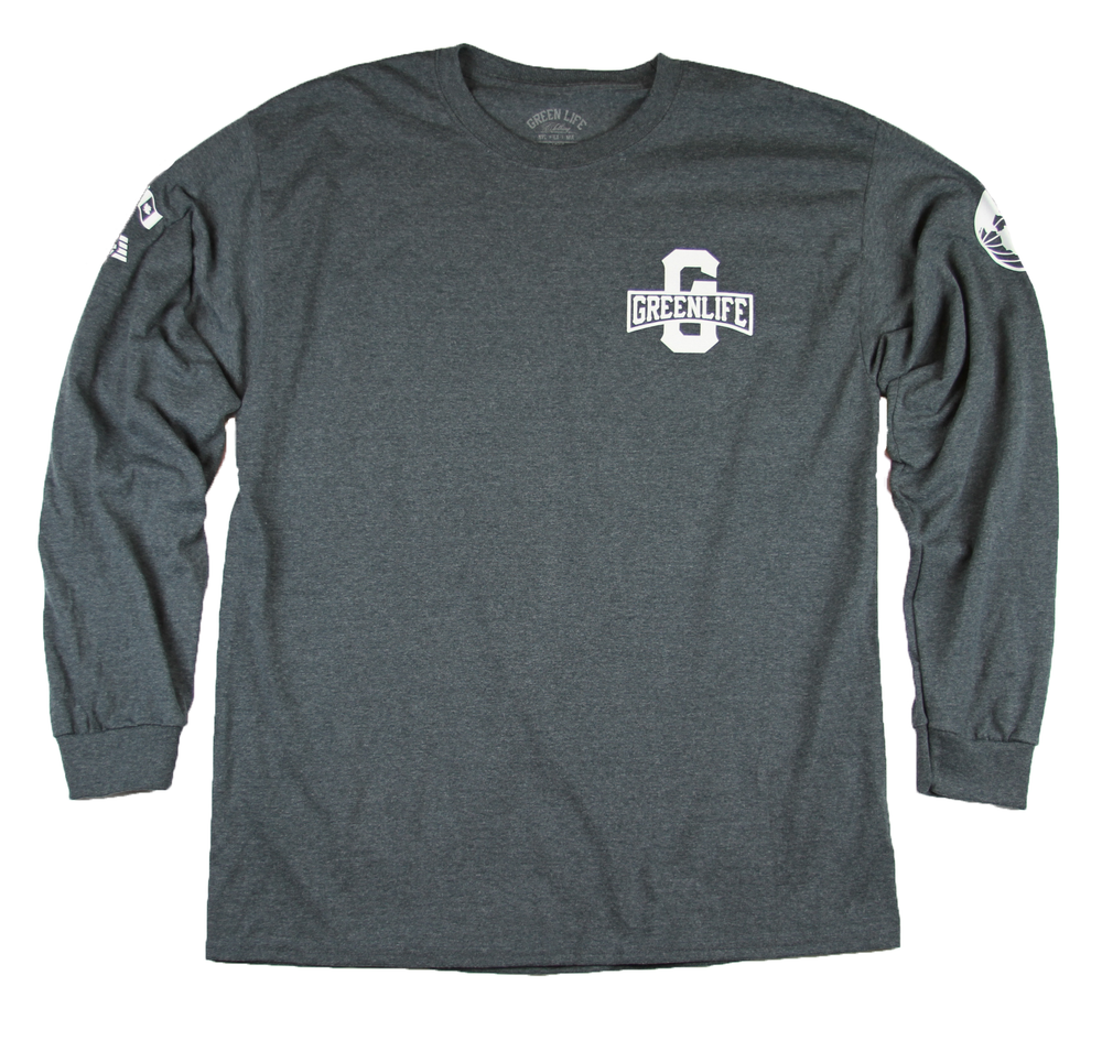 Image of The Worldwide G Long Sleeve Tee in Dark Heather