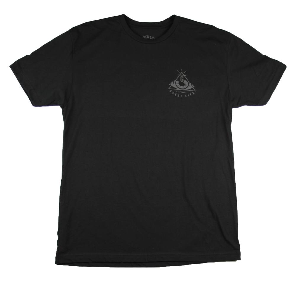 Image of The Pyramid Tee in Black (3M Reflective Ink)