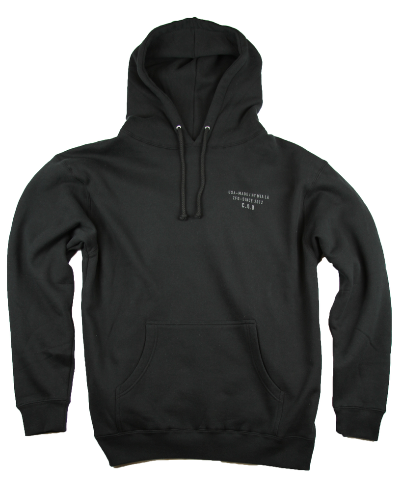 Image of The COD Hoodie in Black ( 3M Reflective ink )