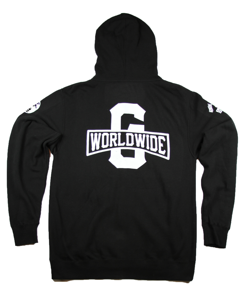 Image of The Worldwide G Zip Up Hoodie Hoodie in Black