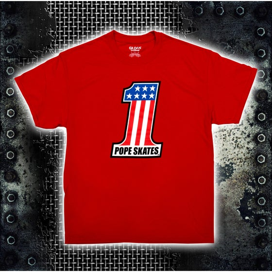 Image of #1 Evel Logo Red T-Shirt