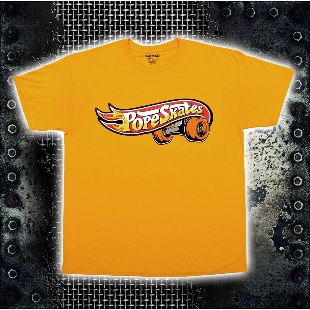 Image of Hot Wheels Logo Gold T-Shirt