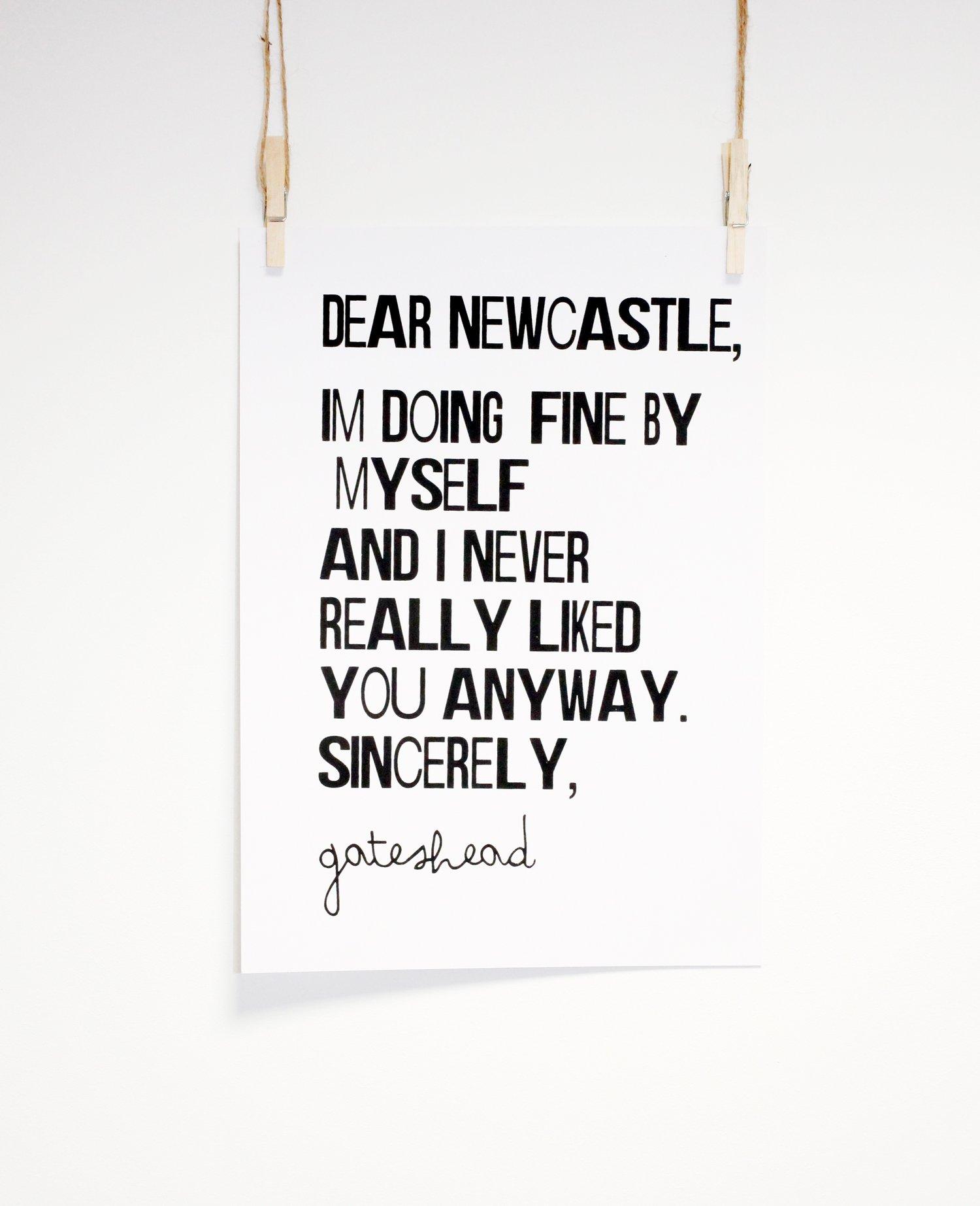 Image of Dear Newcastle