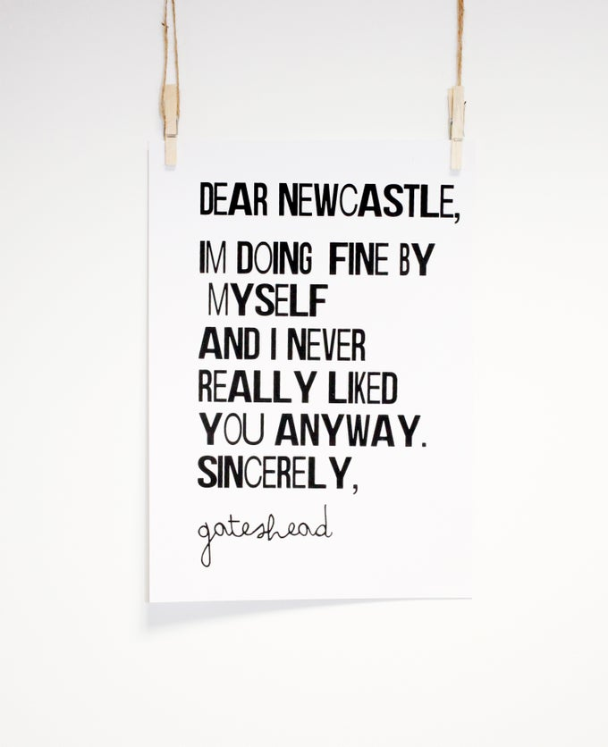 Image of Dear Newcastle