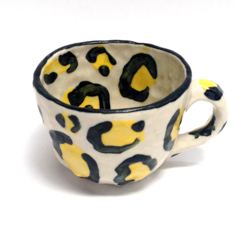 Image of Yellow Leopard Print Cup