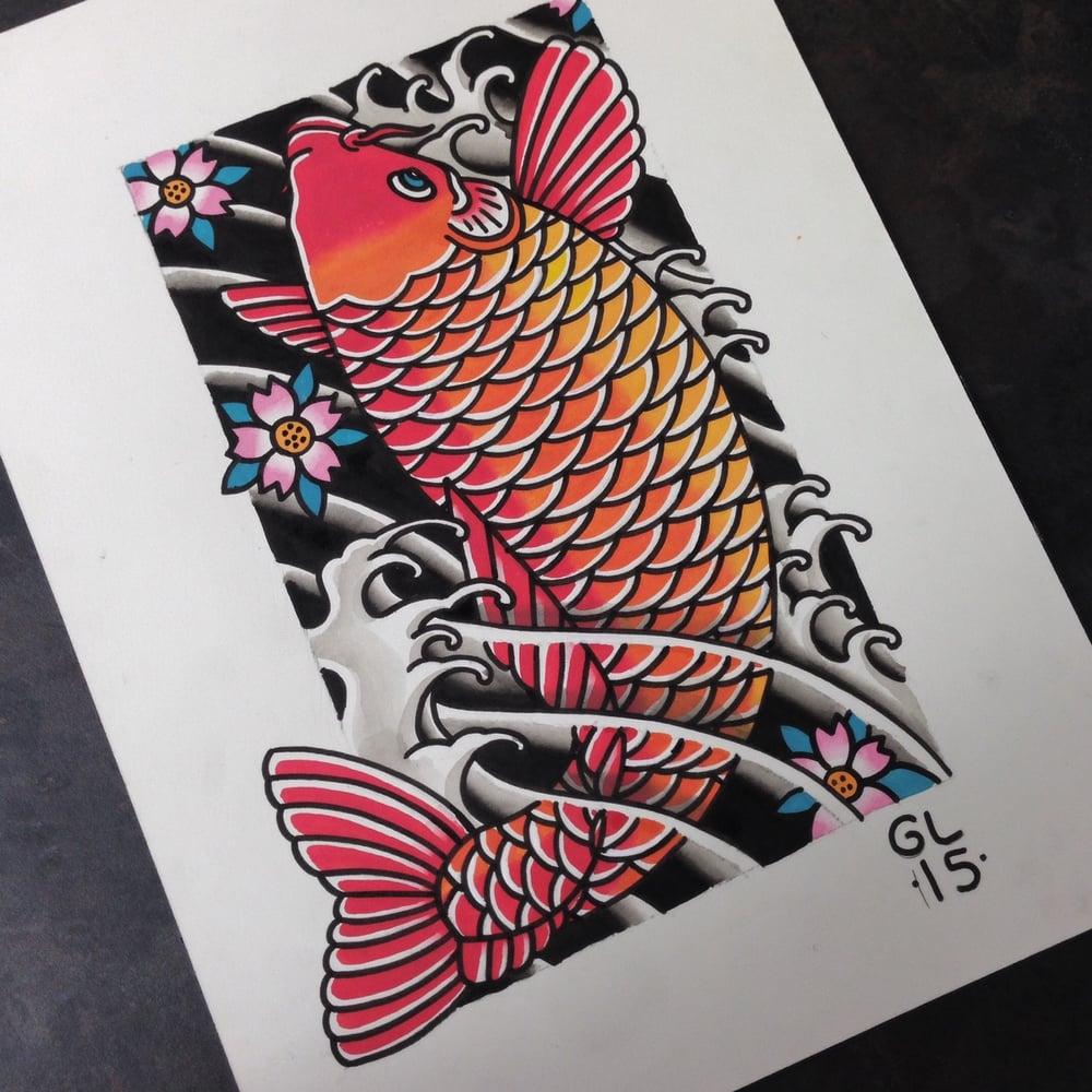 Image of Koi fish original painting