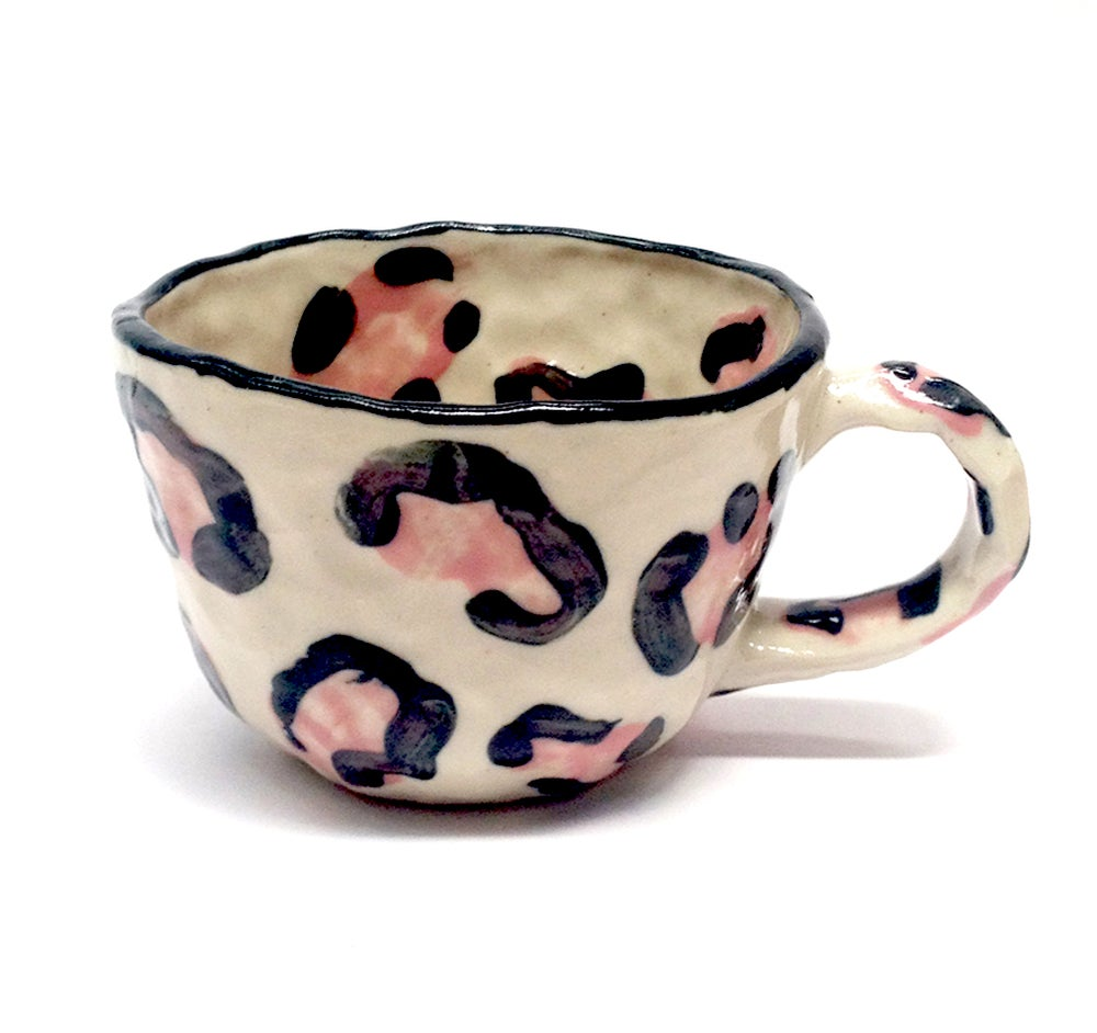 Image of Pink Leopard Print Cup