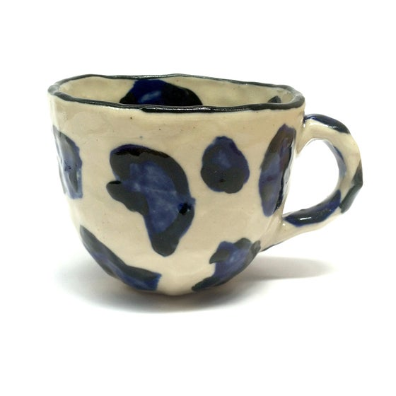 Image of Navy Leopard Print Cup