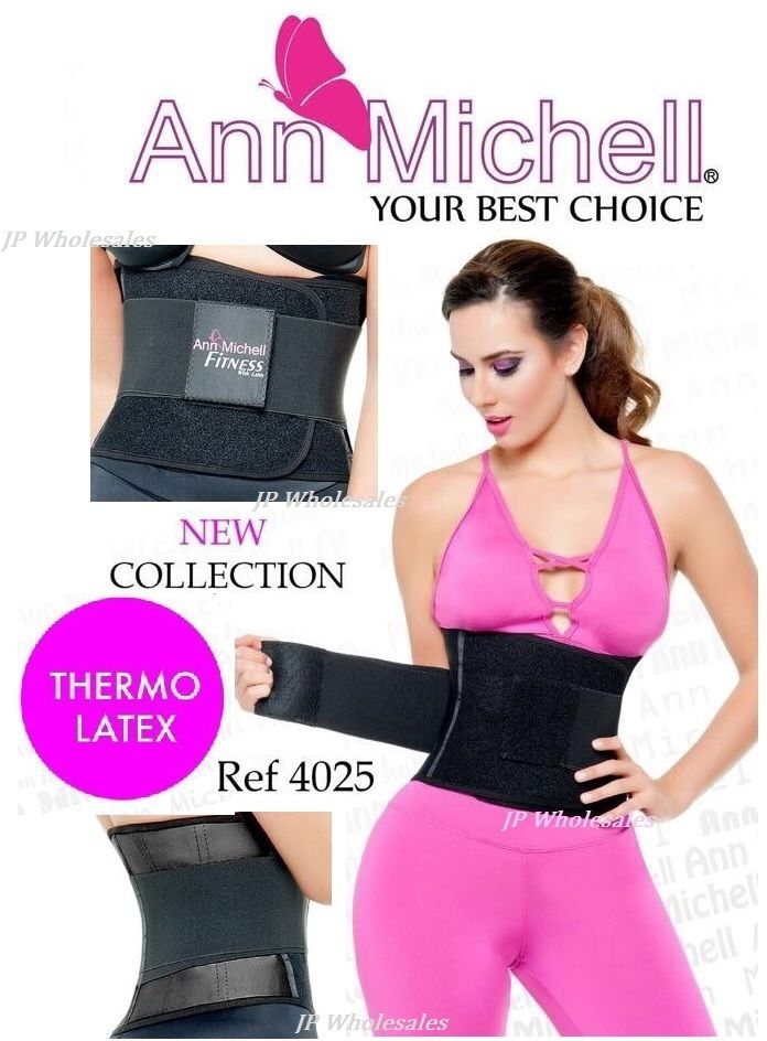 6efa6e1ad9bb4 Image of ANN MICHELL 4025 FITNESS THERMO LATEX XTREME POWER BELT BODY  SHAPER GYM TRAINER