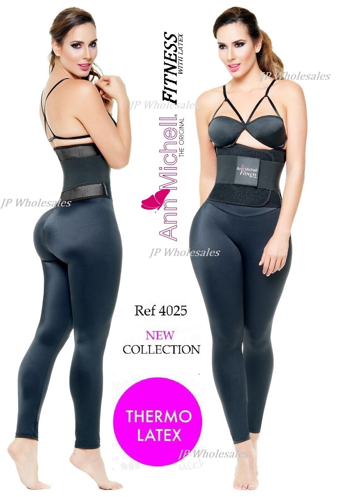 745b9c486b Image of ANN MICHELL 4025 FITNESS THERMO LATEX XTREME POWER BELT BODY  SHAPER GYM TRAINER. Black ...