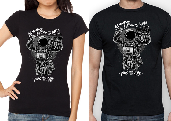 Image of Astronaut T-Shirt Black