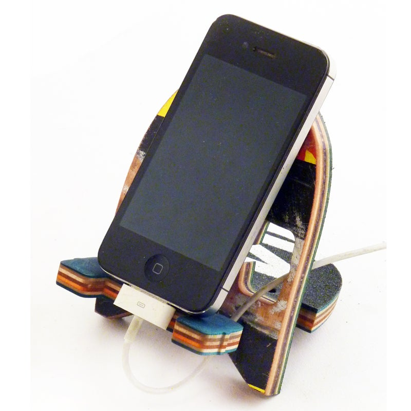 Image of SkateDock - Recycled Skateboard Phone Stand or Charge Station - Free USA Shipping