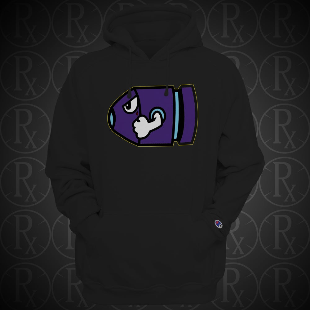 Image of Limited Edition Bullet Bill Aqua 8 Hoodie