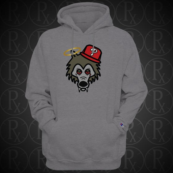 Image of Limited Edition Heather Grey Rx Wolf Hoodie