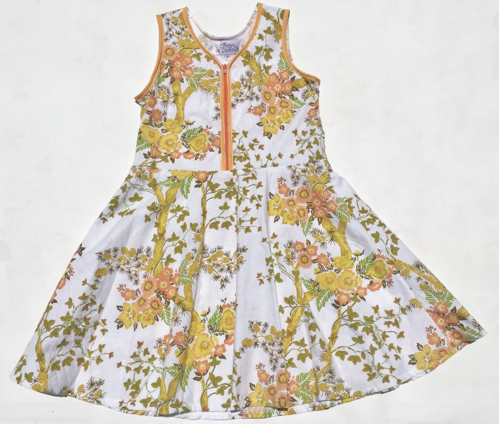 Image of Size 8 'Vintage Twirl' Dress - bamboo floral