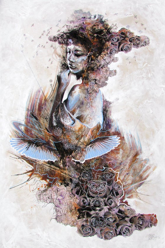 "Image of ""An Ode To Klimt"" Hand Embellished Limited edition Print"