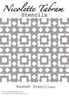 Kasbah Furniture Stencil for Furniture, Wall and Fabric Projects-Moroccan stencil-DIY