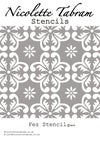 Fes Furniture Stencil for Furniture, Wall and Fabric Projects-Moroccan stencil-DIY