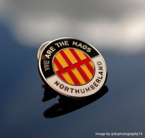 Image of WE ARE THE MAGS - NORTHUMBERLAND PIN BADGE